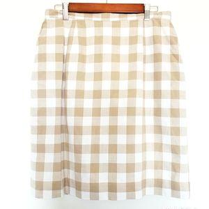 Dresses & Skirts - 2 for $25 tan & white checkered skirt